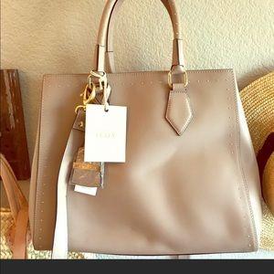 Handbags - Italian leather studded purse taupe